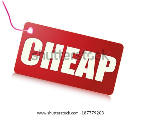 Cheap message - stock photo