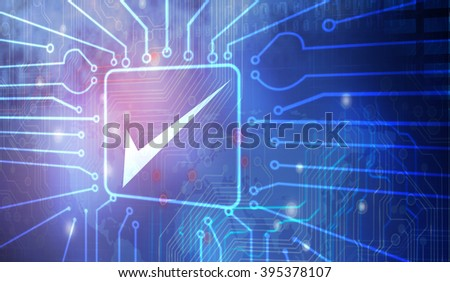 Check-box abstract - stock photo