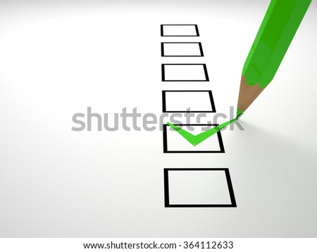 check box on white business  background - stock photo