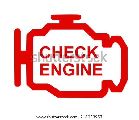 check engine - stock photo