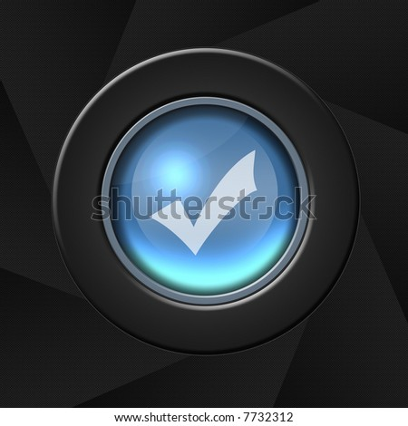 Check icon - stock photo