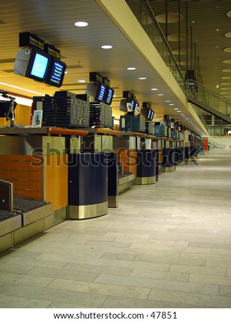 check-in counters - stock photo