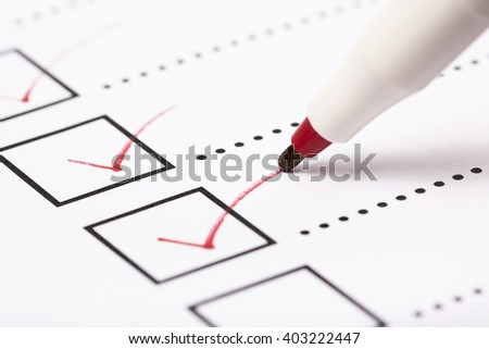 Check list and marker - stock photo