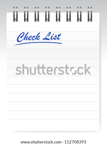 check list notepad illustration design over a white background - stock photo