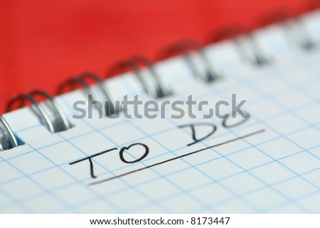 Check list on red background - stock photo