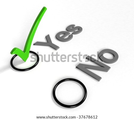 check list with green choice mark. - stock photo