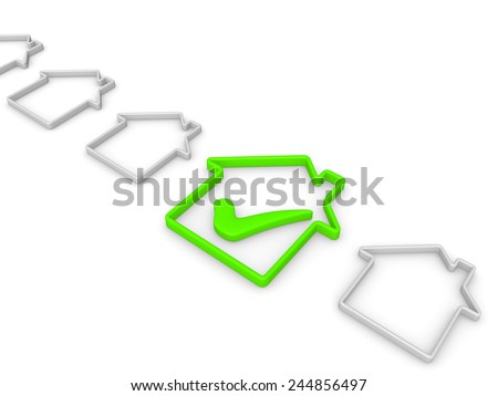 Check list with house symbols - stock photo