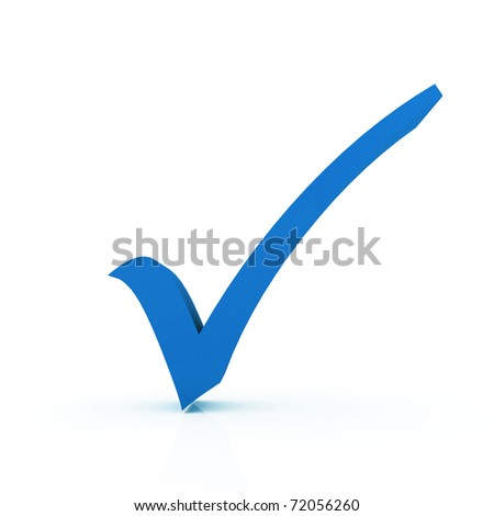 Check Mark - stock photo