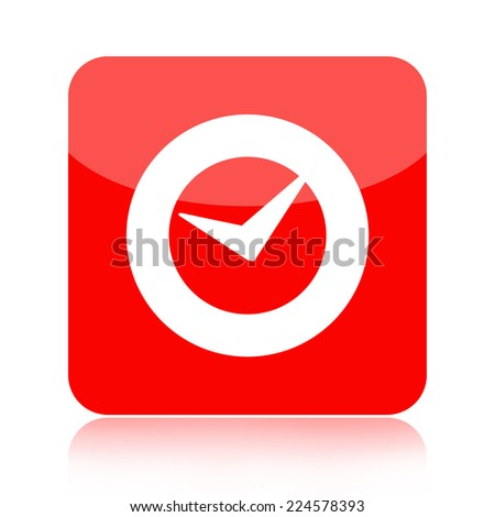 Check mark or clock icon - stock photo