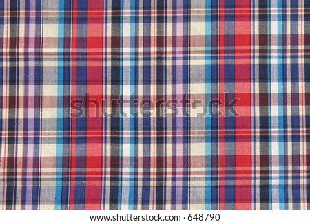 Checked material - stock photo