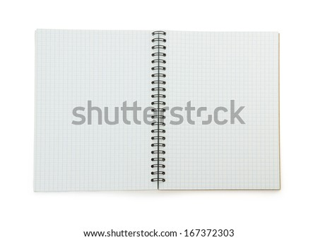 checked note paper isolated on white background - stock photo