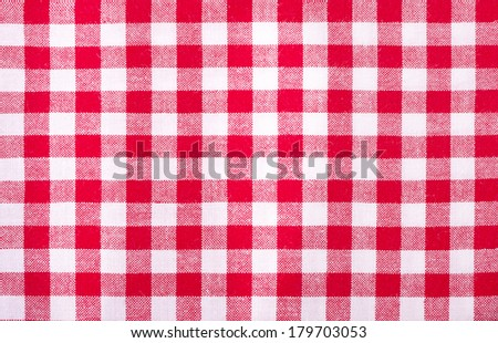 Checked Oilcloth Background - stock photo