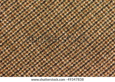 Checked woollen cloth - stock photo