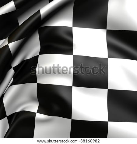 Checker flag. - stock photo