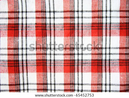 Checkered cloth pattern background - stock photo