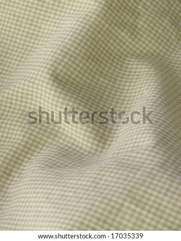 Checkered fabric closeup - series - beige. Good for background. More fabrics available in my port. - stock photo