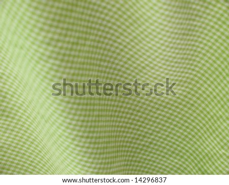 Checkered fabric closeup - series - green. Good for background. More fabrics in my port. - stock photo