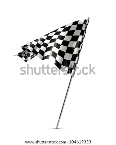 Checkered flag, bitmap copy - stock photo