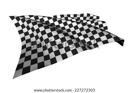 Checkered Flags (racing flags) illustration - stock photo