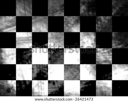checkered grunge flag - stock photo