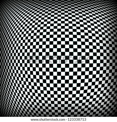 Checkered Pattern Background - stock photo