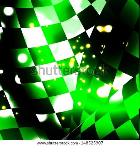 checkered sport racing flag background bitmap - stock photo