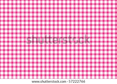 Checkered tablecloth - red and white squared pattern background - stock photo