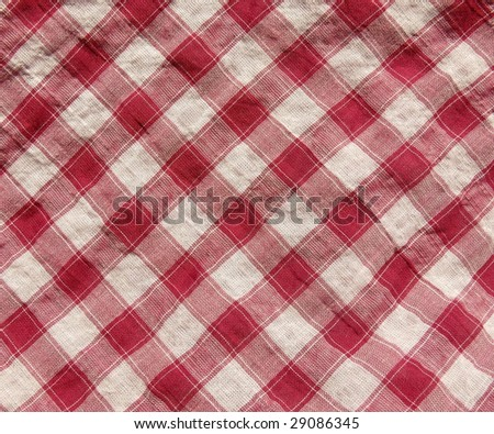 Checkered textile background. More of this motif & more fabrics in my port. - stock photo