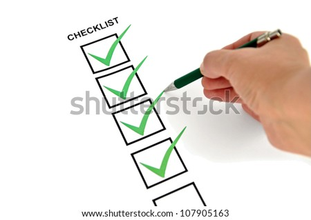 Checklist from above - stock photo