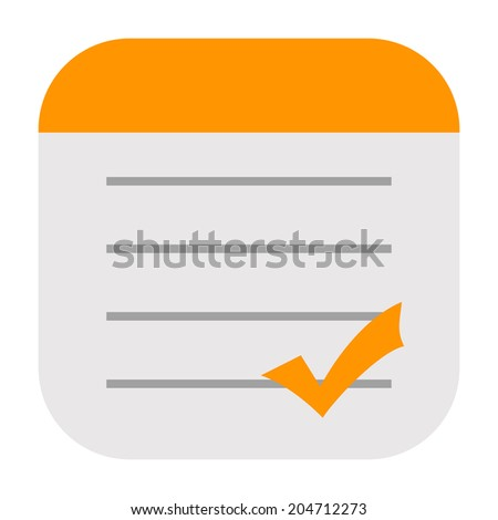 Checklist icon - stock photo