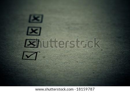 checklist! True and false concept - stock photo
