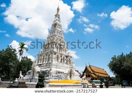 Chedi liam pagoda, Chedi liam temple in Chiang mai, Thailand - stock photo