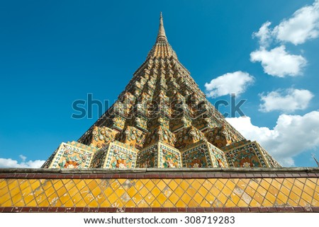 Chedis at Wat Po, Bangkok, Thailand - stock photo
