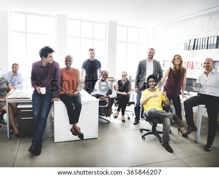 Cheerful Collaboration Colleagues Office Corporate Concept - stock photo