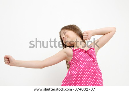 Cheerful fashion model with healthy hair - stock photo