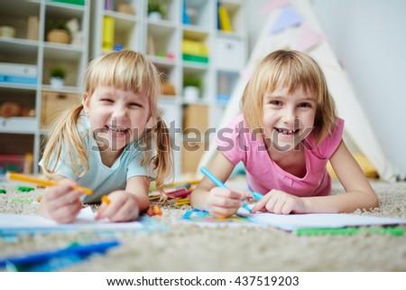 Cheerful kids - stock photo