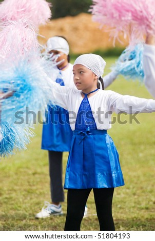 cheerleader at school - stock photo