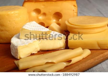 Cheese Assortments. Still Life. - stock photo