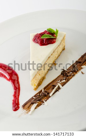 Cheese cake - stock photo