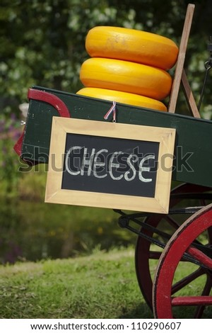Cheese for sale - stock photo