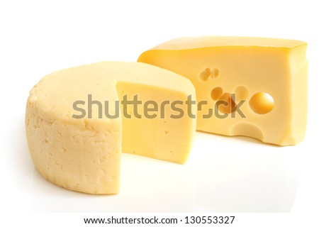 Cheese on a white background - stock photo