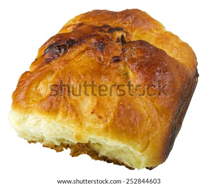 Cheese pie studio isolated on white background with clipping path - stock photo