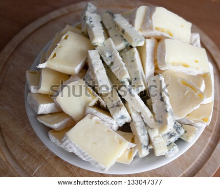 Cheese platter - stock photo
