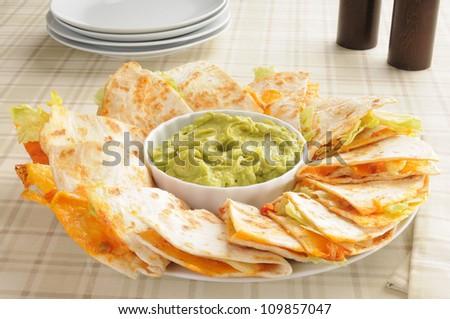 Cheese Quesadillas With Guacamole Recipes — Dishmaps