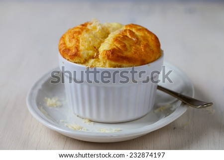 Cheese souffle - stock photo