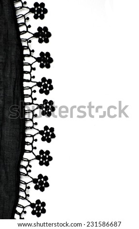Cheesecloth and lace background with copy space - stock photo