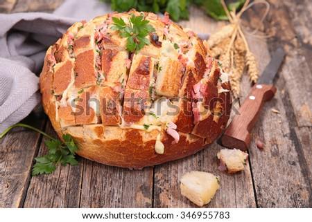 cheesy pull apart bread - stock photo
