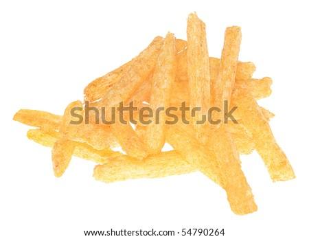 Cheetos on a wiete background. - stock photo
