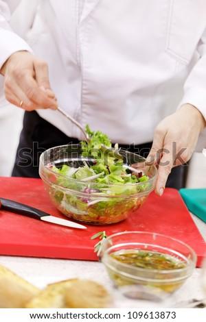 chef at work - stock photo