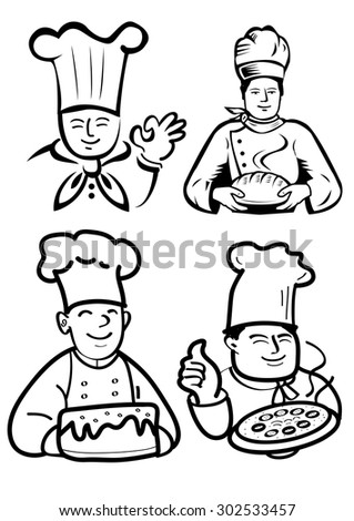 Chef & Baker - stock photo